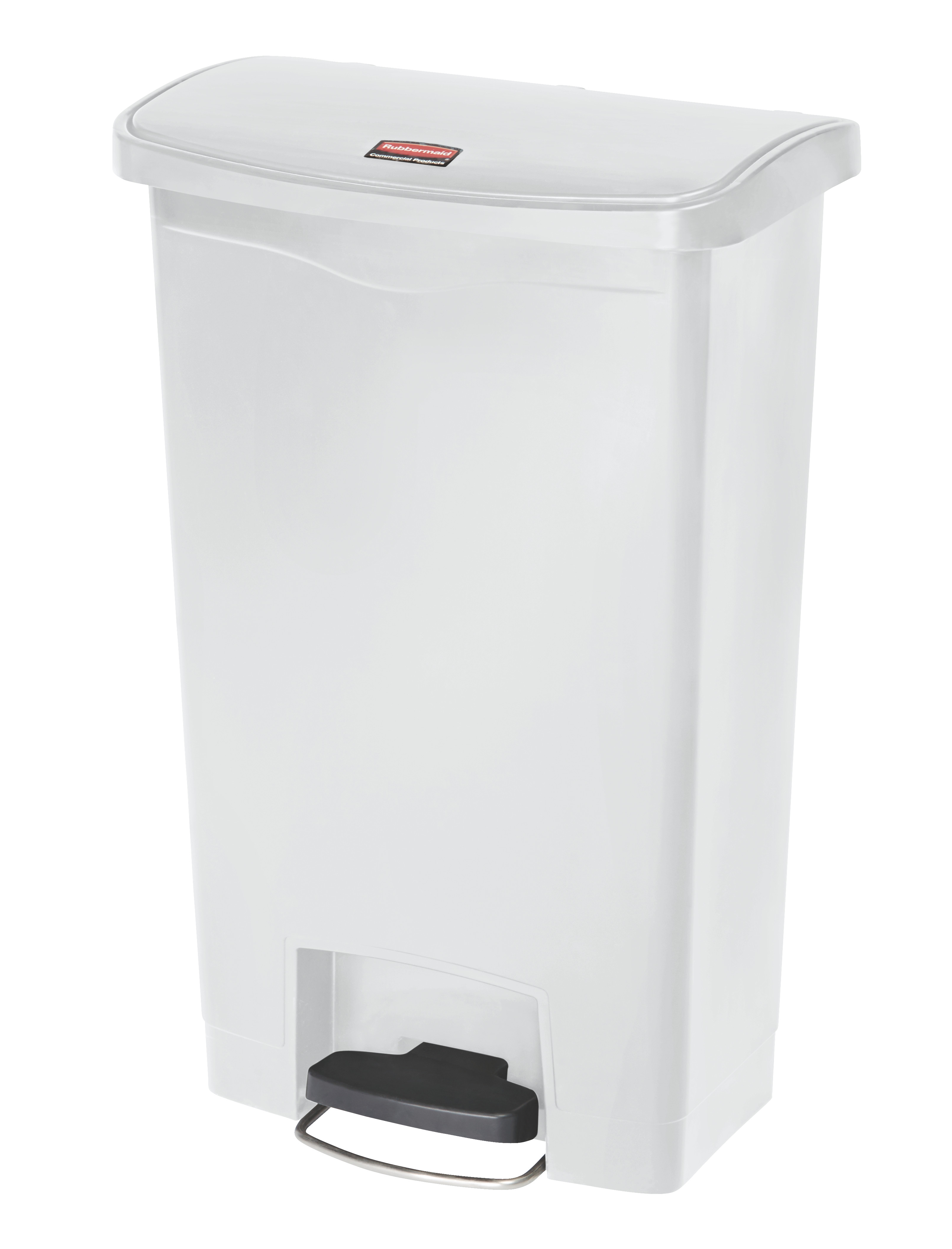 Rubbermaid Slim Jim Step On container Front Step kunststof 50 ltr, Wit (VB224016)