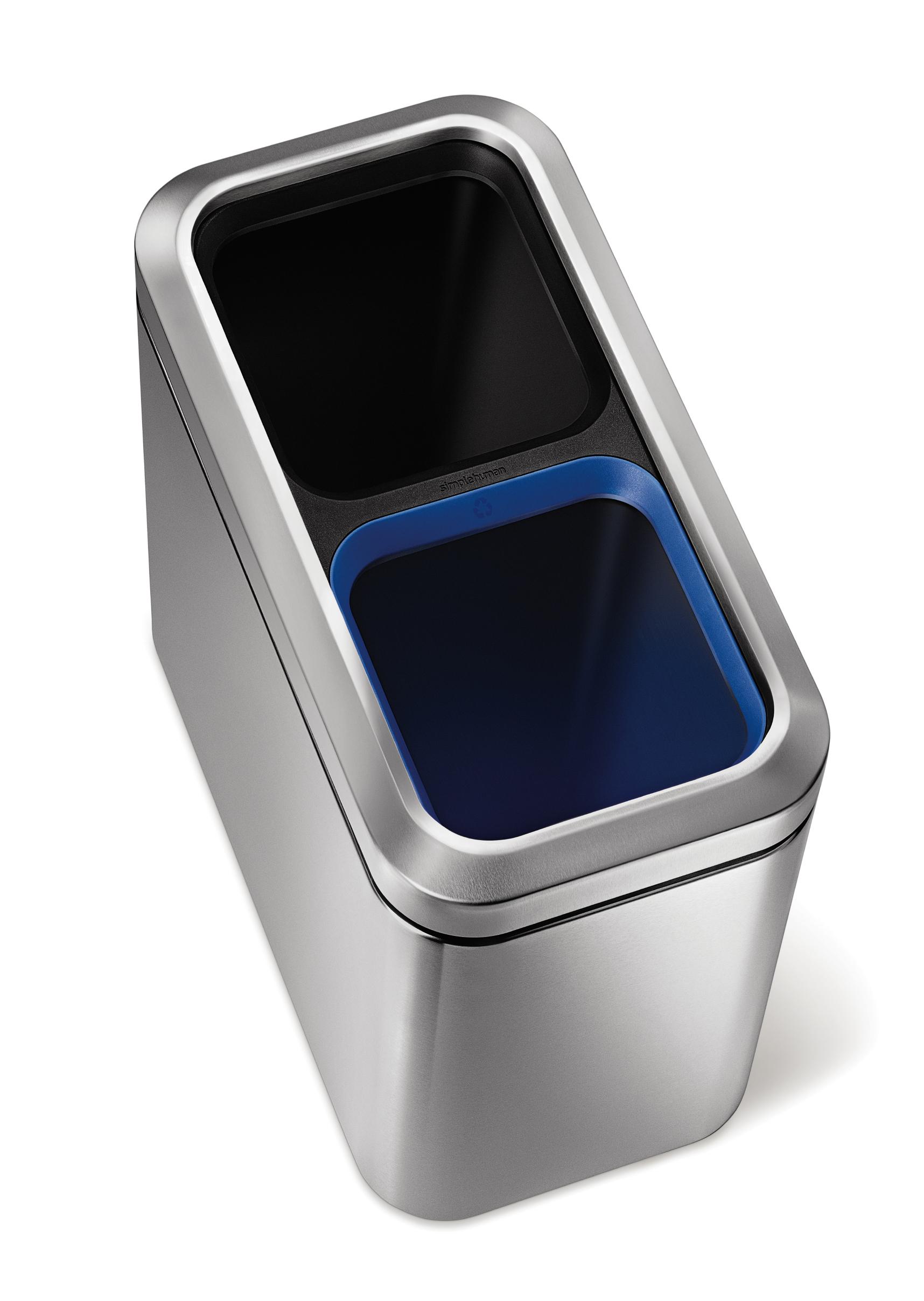 Simplehuman open recycling Afvalbak Slim Open, 20 liter (VB016689)