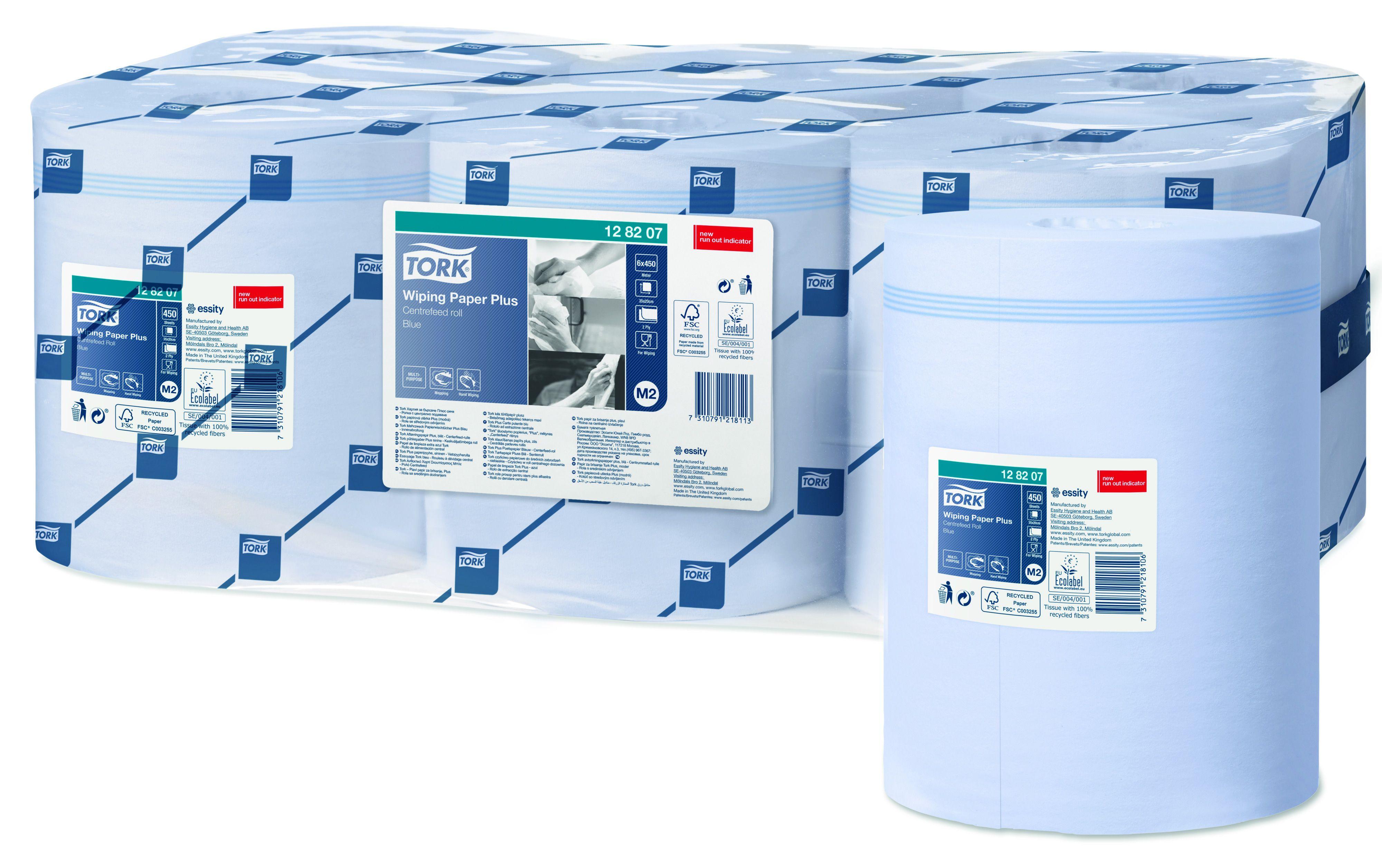 Tork Advanced 420 M rol 2-lgs blauw 158 mtr x 20 cm doos à 6 rol (128207)