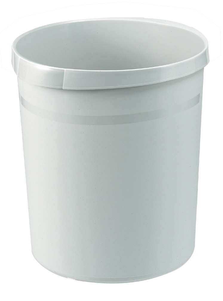 Ronde Kunststof papierbak grijs, 18 liter (VB090033)