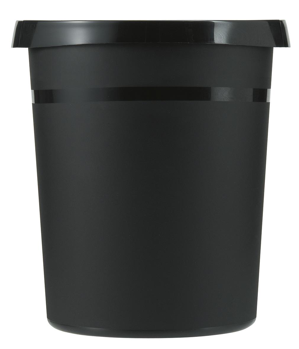 Ronde Kunststof papierbak zwart, 18 liter (VB090040)