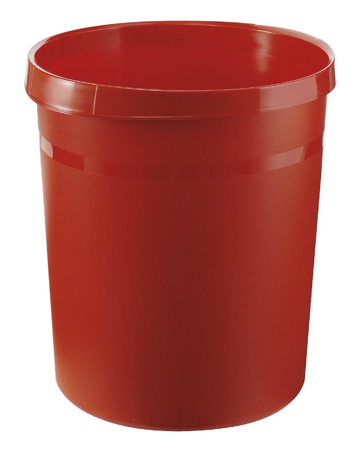 Ronde Kunststof papierbak rood, 18 liter (VB090071)