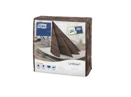 Tork 478727 Linstyle® Dinnerservet 39x39cm cocoa 1/4 vouw, ds à 600 stk (12x50) (478727)
