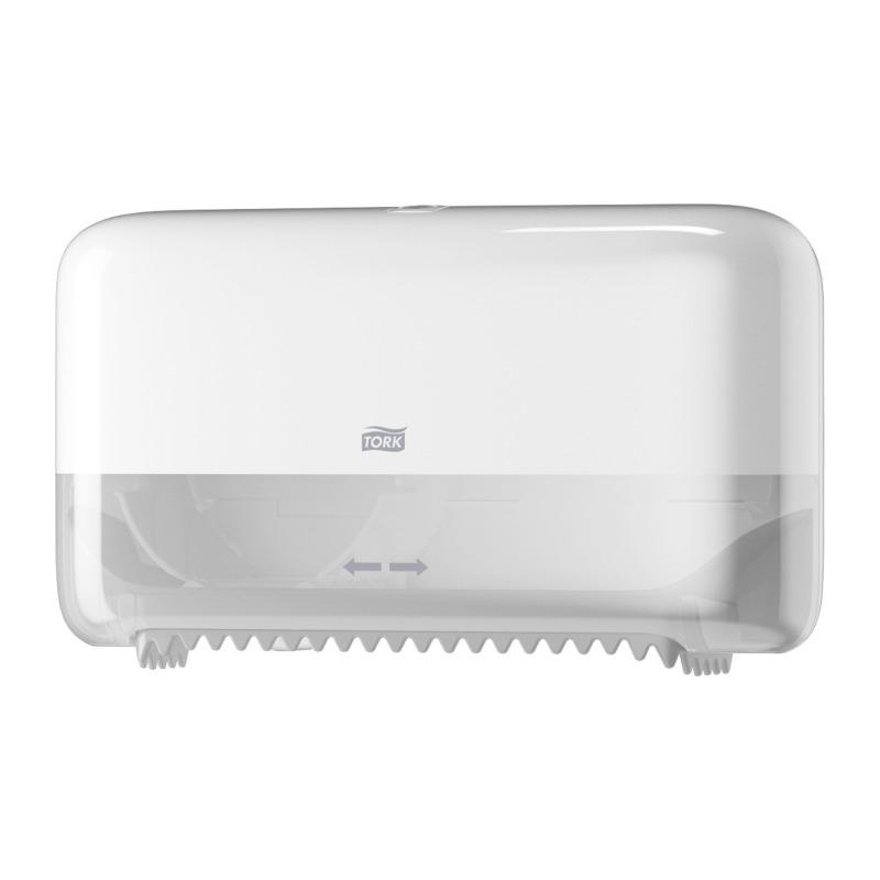 Tork 558040 Coreless T7 Mid-size toiletroldispenser, kunststof, wit (558040)