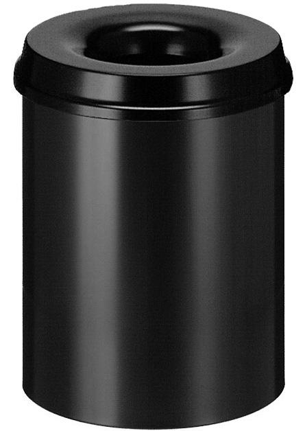Vepa Bins Vlamdovende papierbak 15 ltr, zwart (VB101500Z)