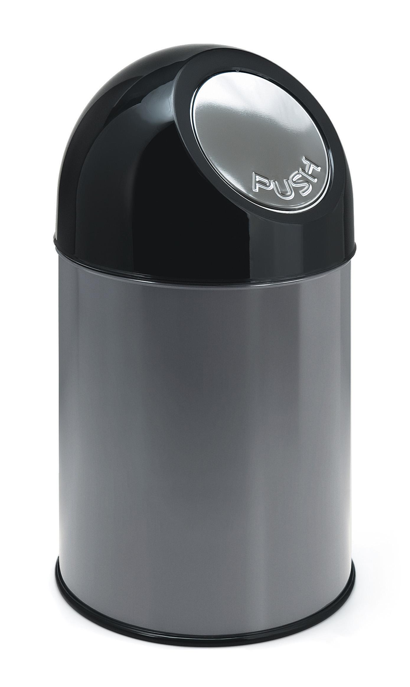 Afvalbak met pushdeksel en binnenemmer, 30 liter (VB460002G)