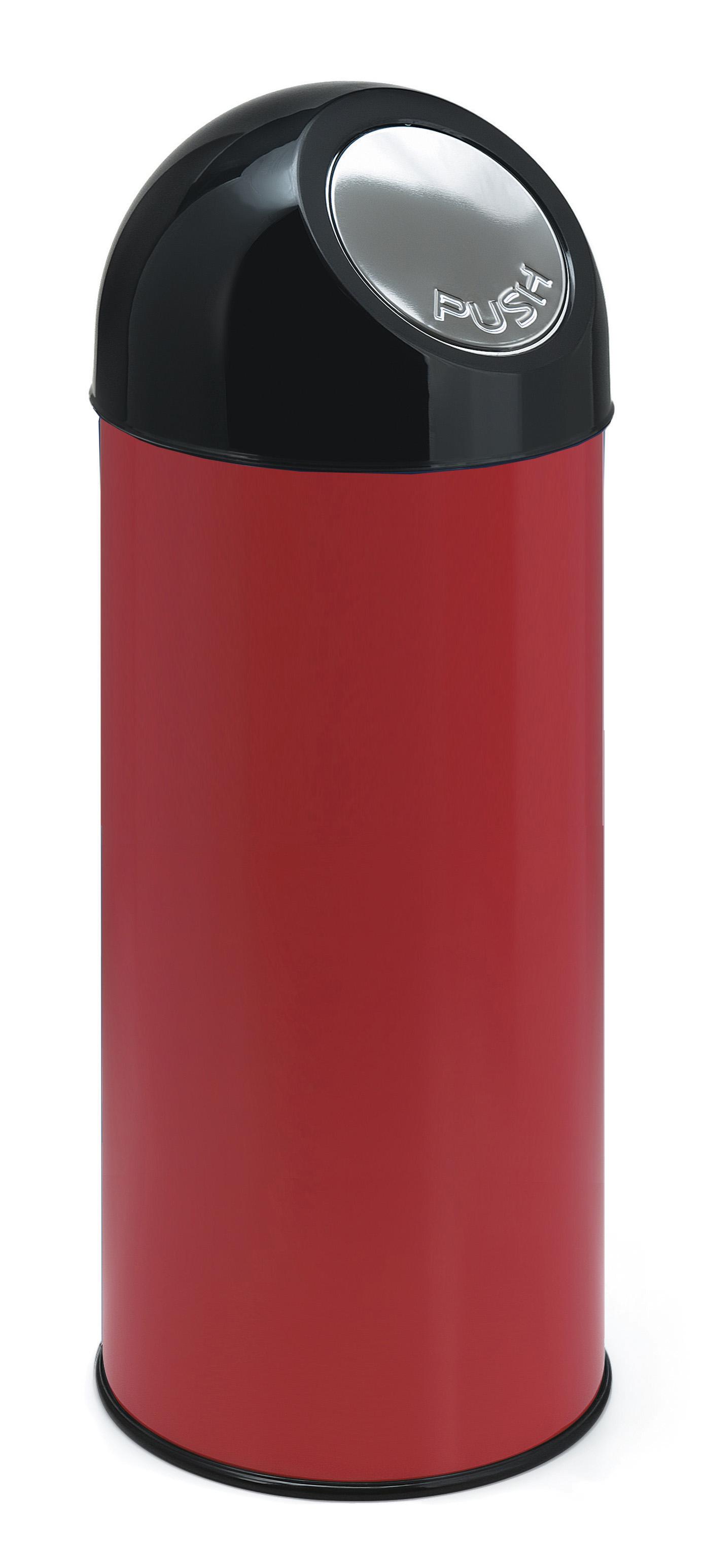 Afvalbak met pushdeksel en binnenemmer 55 ltr (VB470002R)