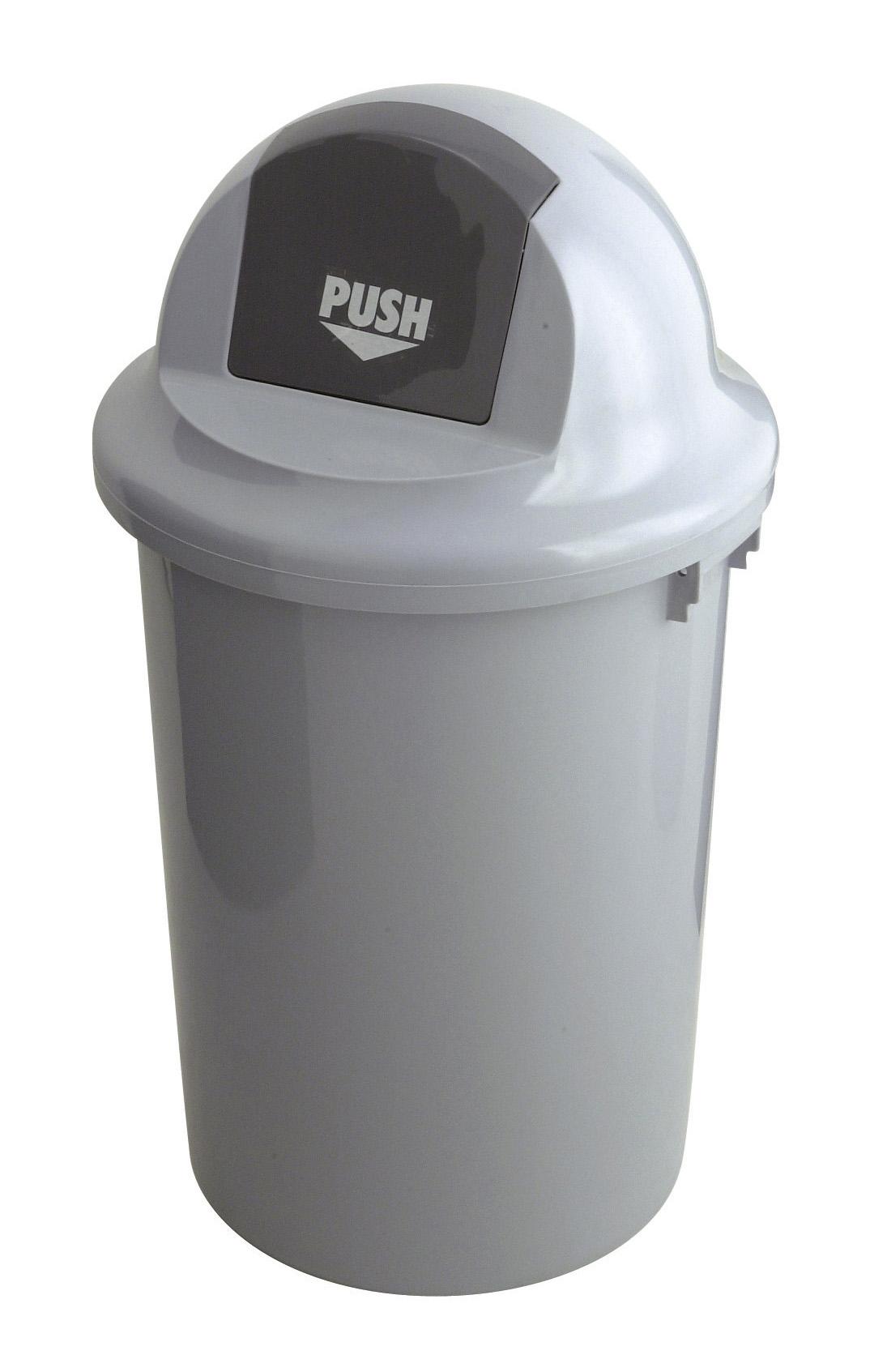 Kunststof afvalbak met klapdeksel, 60 ltr (VB200060)
