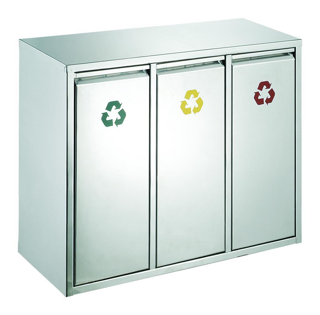 Recycling afvalbak, 3x 8 liter (VB710416)