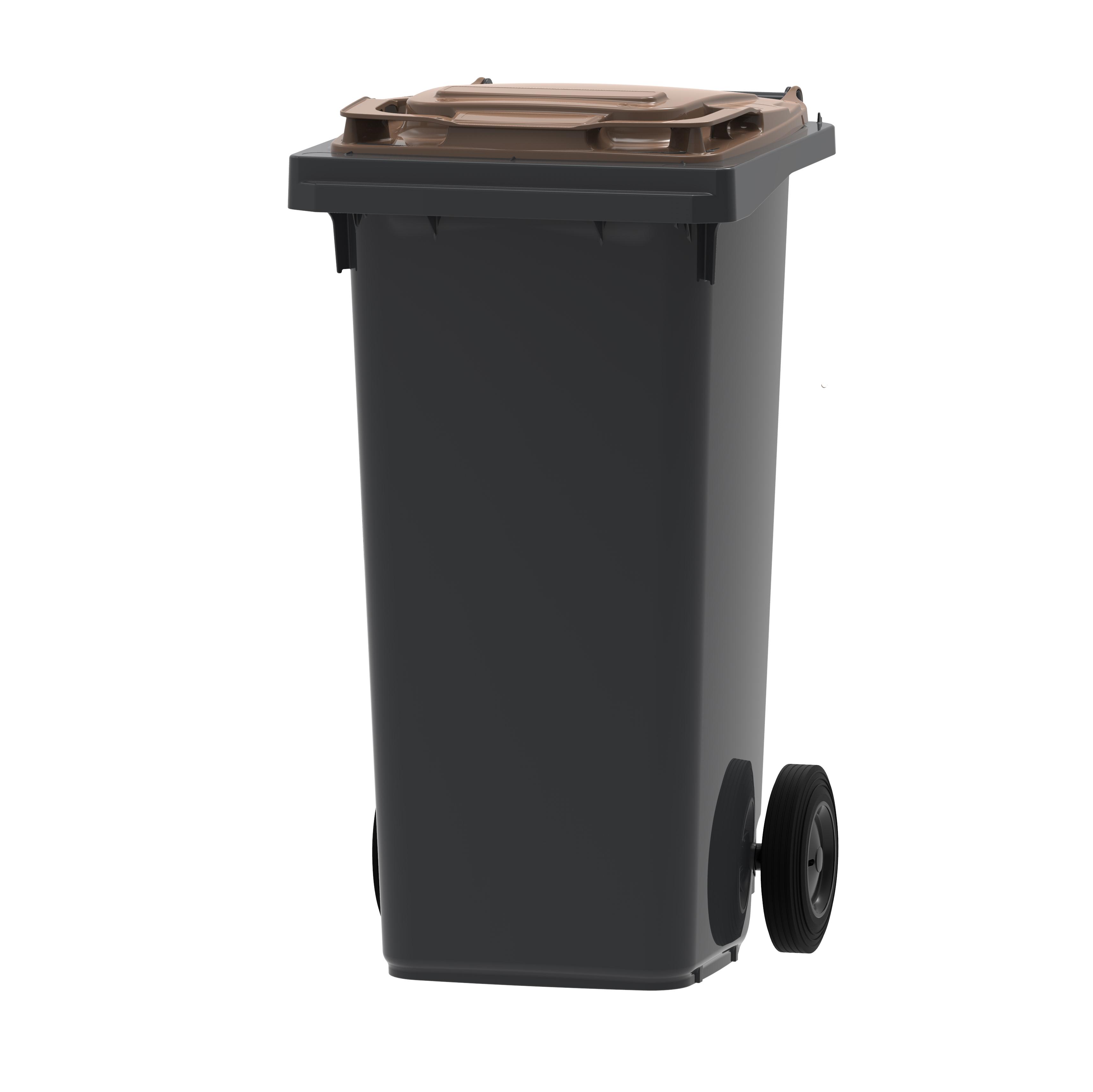 Vepa Bins Mini-container DonkerGrijs/Bruin 120 ltr (VB120000BR)