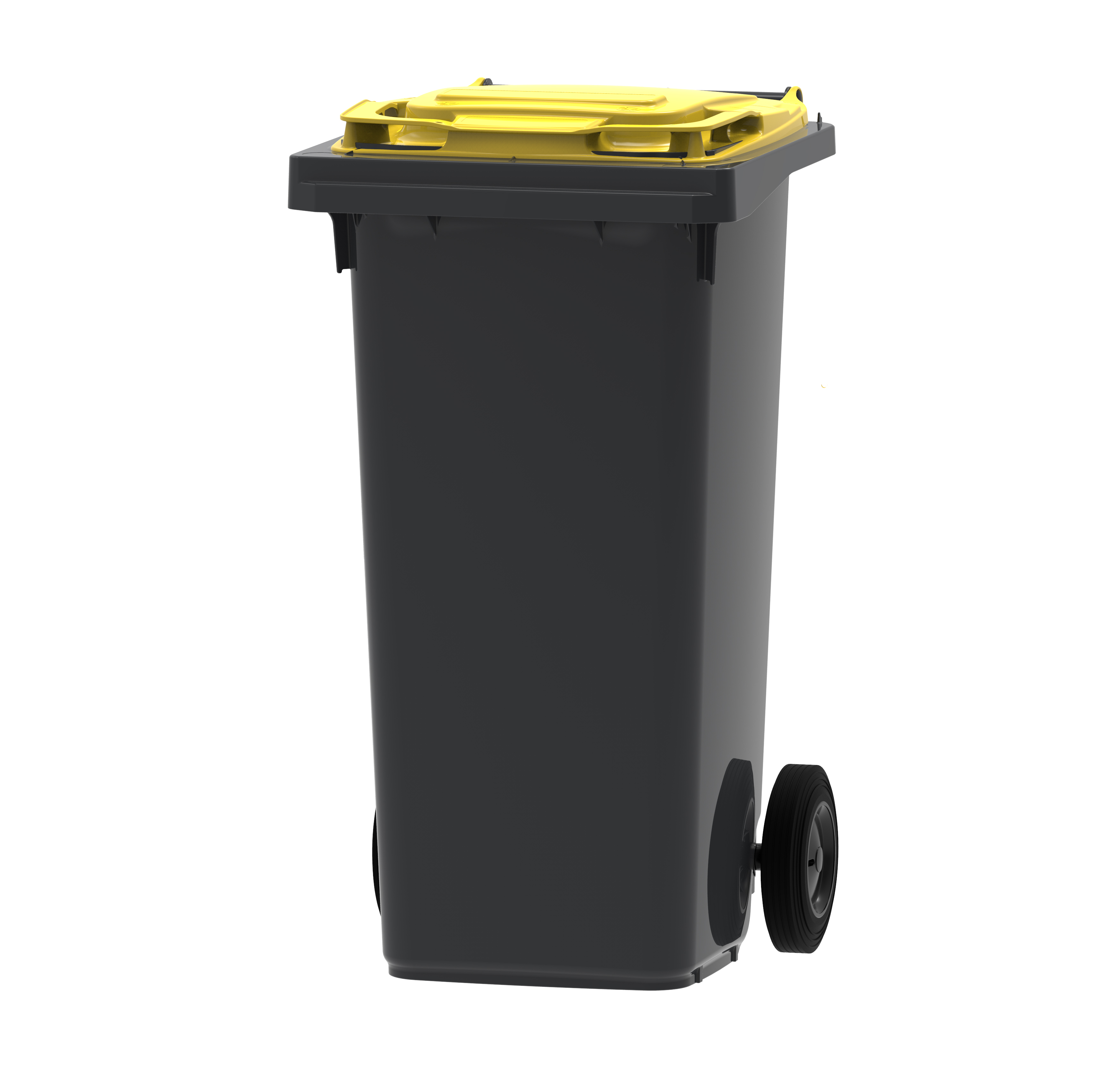 Vepa Bins Mini-container DonkerGrijs/Geel 120 ltr (VB120000G)