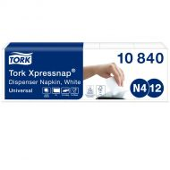Tork Xpressnap® Dispenserservet Wit N4, 1/4-vouw 1-laags, 8 x 225 servetten (10840)