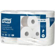 Tork Premium toiletpapier 4-lgs wit 19 mtr x 10cm pak à 42 rol/153 vel (110405)