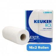 Keukenrollen 130010 cellulose 2 laags 32 rollen a 50 vellen (130010)