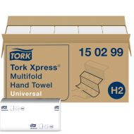 Tork Xpress Multifold Handdoek 2-lgs wit 21x24 cm ds à 4740 stuks (150299)
