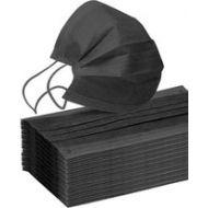 Mondkapjes zwart 50stuks niet medische disposable protective face mask (8945005157750)