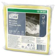 Tork Microvezel Herbruikbare Reinigingsdoek 30x30, geel (183601)