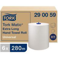 Tork Universal handdoekrol 1-lgs wit, 280 mtr x 21 cm doos à 6 rol (290059)