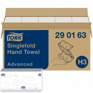 Tork Z-gevouwen papieren handdoeken Advanced H3, groot, zacht, 2-laags, wit (290163)