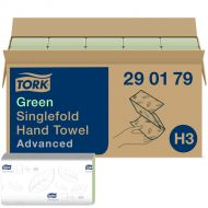 Tork Green Singlefold Hand Towel 2 laags (290179)