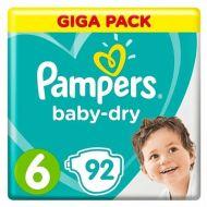 Pampers 92stuks Baby Dry luiers nr 6  (15+kg) (4015400834991)