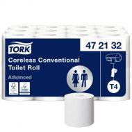 Tork hulsloos traditioneel toiletpapier, wit, 2 laags, pak à 24 rol (472132)