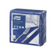 Tork 477594 soft dinnerservet 39x39cm, 3-lgs, 1/4 vouw, donkerblauw, doos à 12x100 stk (477594)