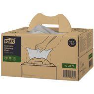 Tork Premium 520 werkdoek, 1-lgs, grijs, 41,5 x 35,5 cm, 210 vel in handybox (520371) (520372)