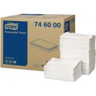 Tork Advanced handdoek, wit, 5-laags, 30 x 68 cm, doos à 250 vel (746000)