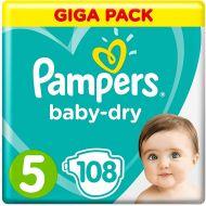 Pampers 108stuks Baby Dry luiers nr 5 (11-23kg) (4015400834410)
