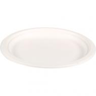 Biodore® Bord wit karton, 1-vaks diameter Suikerrietpulp 180mm 500stuks (521003)