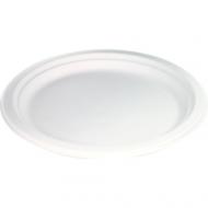 Biodore® Bord wit karton, 1-vaks diameter Suikerrietpulp 230mm 500stuks (521005)