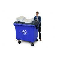 Afvalzakken kliko groot 1100liter 138/64x200cm LDPE T45my transparant los 50stuks (1011850)