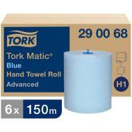 Tork Matic papieren handdoekrol Advanced H1, 2-laags, blauw, 6 x 150 m (290068)