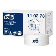 Tork Premium toiletpap jumbo 2-lgs wit 360 mtr x 10 cm pak à 6 rol (110273)