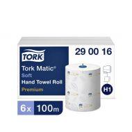 Tork Matic papieren handdoekrol Advanced H1, extra zacht, 2-laags wit (290016)