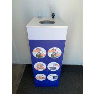 Desinfectie reinigingsstation zuil meubel multiplex 500mm x 400mm x 1000mm inclusief 50% korting (501700)