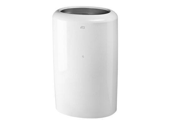 Tork afvalbak kunststof, wit, 50 ltr, 37 x 64 x 30 cm (563000)