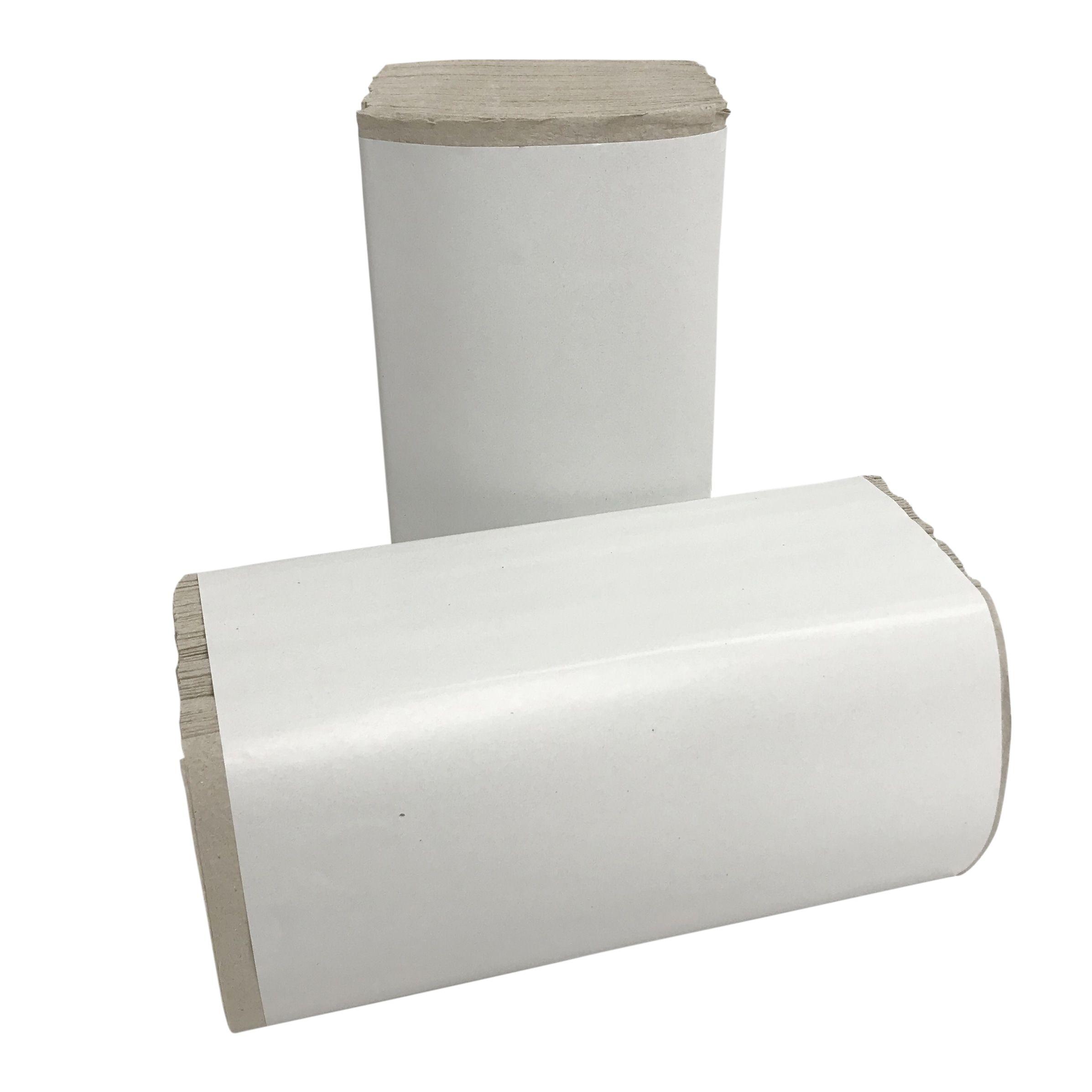 Papieren handdoekjes Z vouw 1laags 23x25cm naturel 5000stuks (917)
