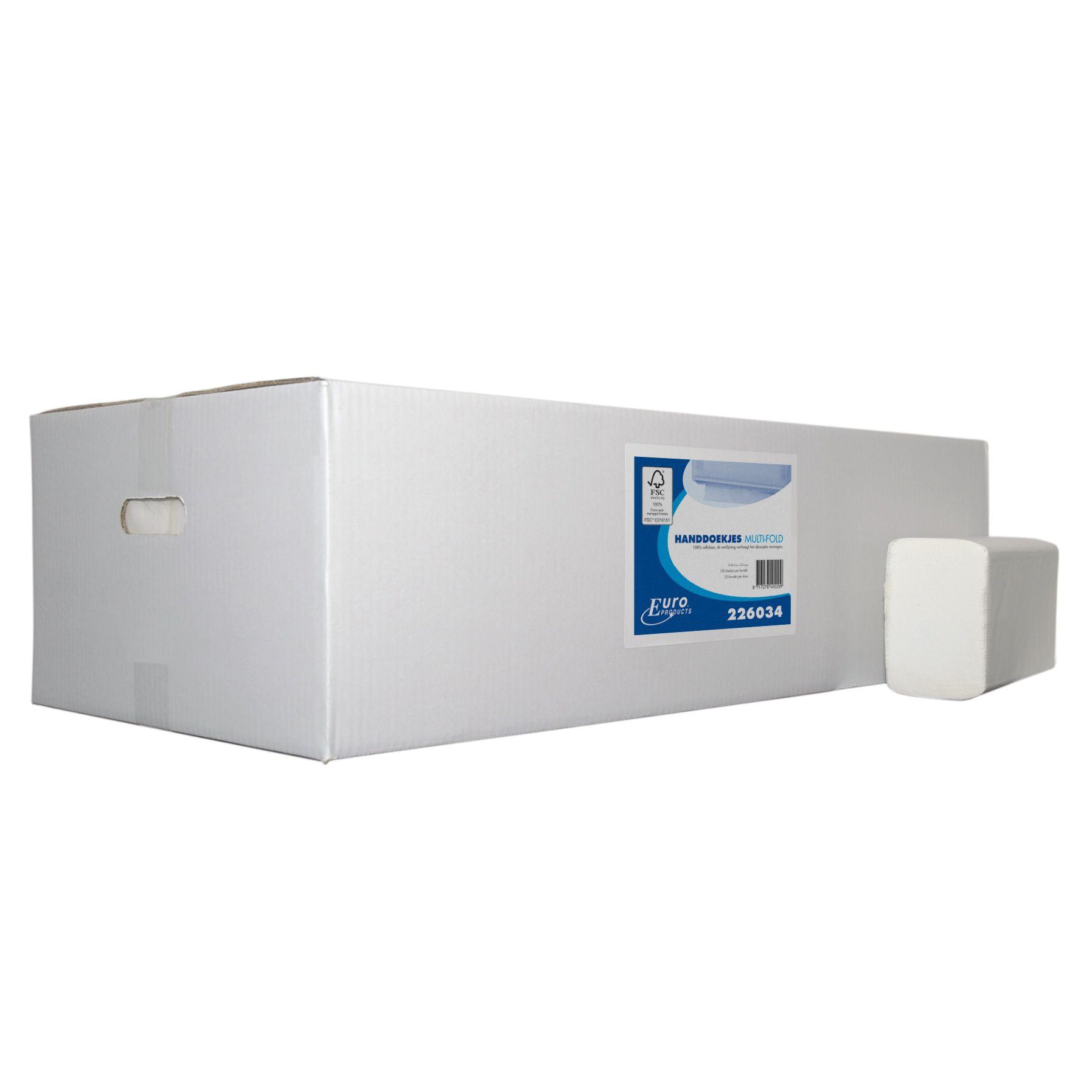 Papieren Handdoeken 226034 Multifold gevouwen 32x20.6cm 2laags 3000st (226034)