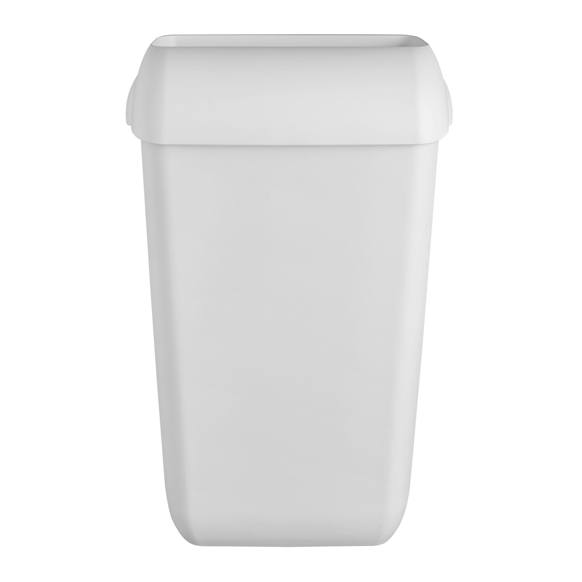 Afvalbak 441402 kunststof mat wit 23liter (441402)