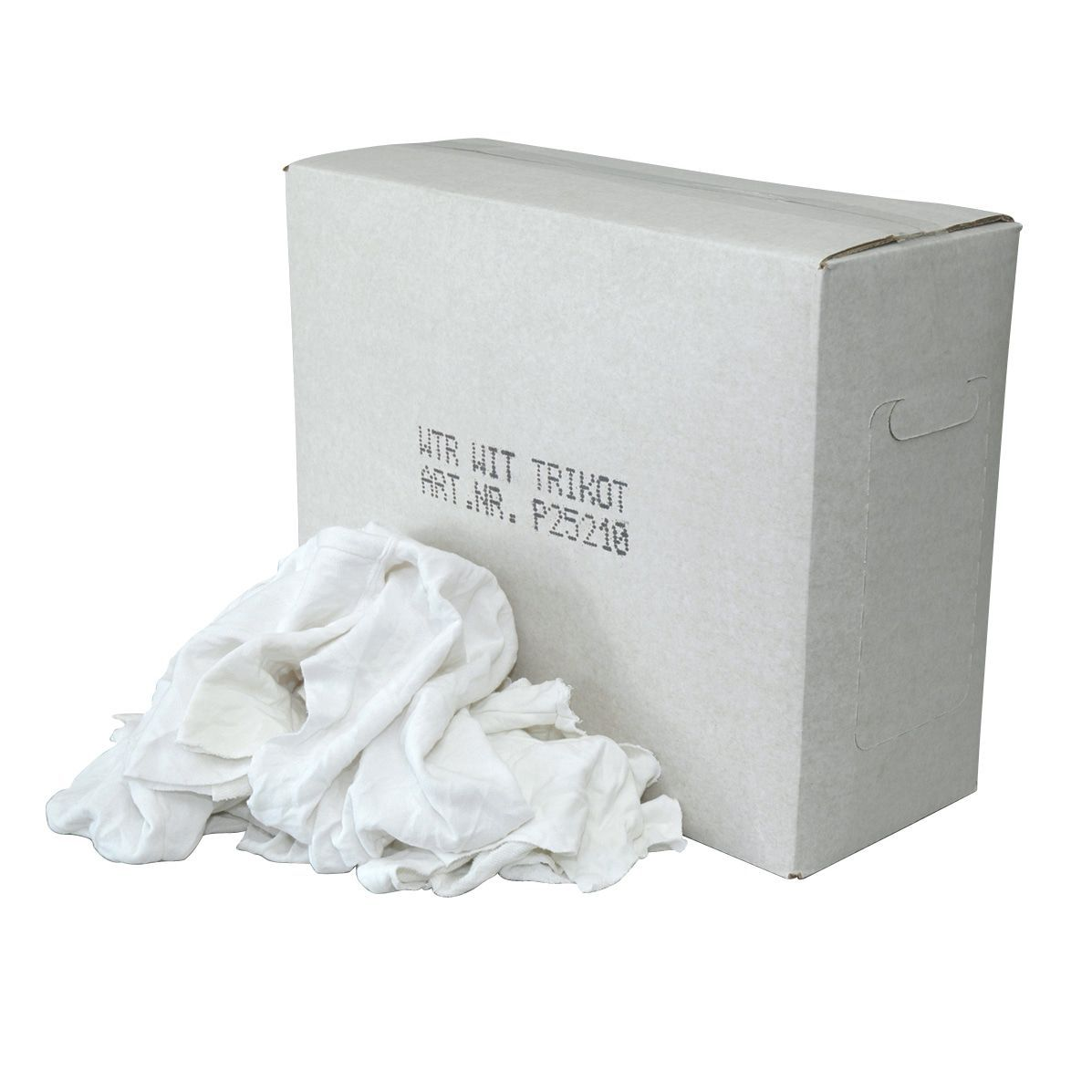 Poetsdoeken P25210 wit tricot met een gekleurd randje 10kg (P25210)