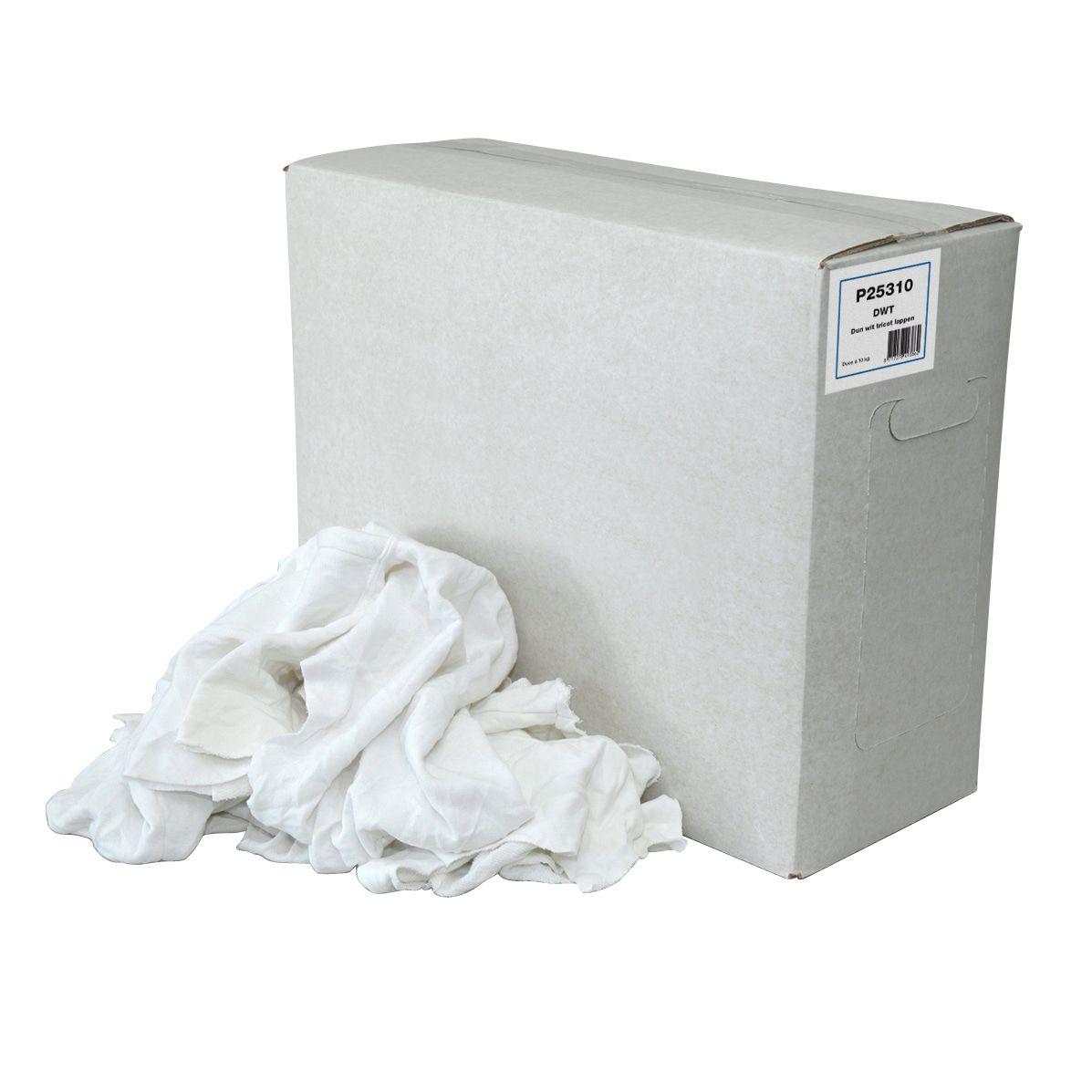 Poetsdoeken P25322 dunne witte hemden trikot gesneden 10kg (P25322)