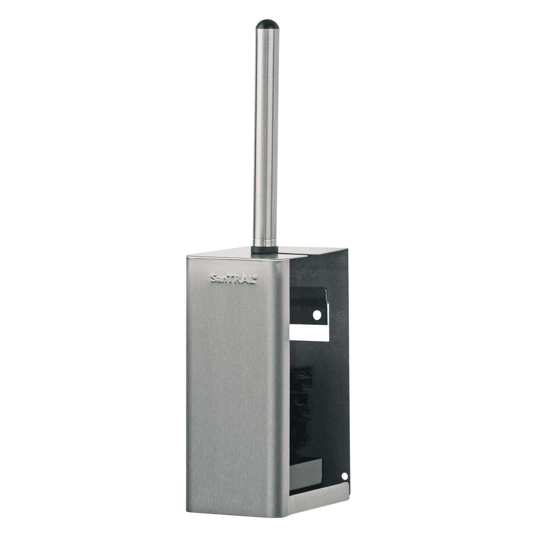 SanTRAL S1414689 Classic RVS Toiletborstelhouder, Dicht model (S1414689)